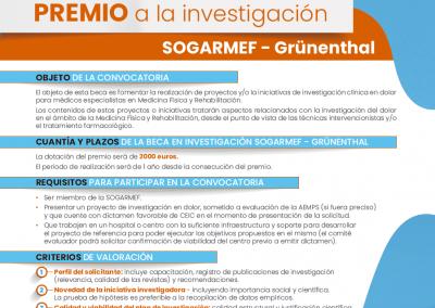 Beca Investigación SOGARMEF -GRÚNENTHAL 2019